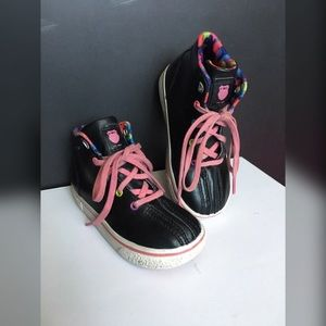 K-Swiss Other - K•SWISS Black Leather High Tops