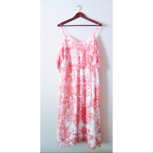 32 Off Loft Dresses Amp Skirts Ann Taylor Loft Red Floral