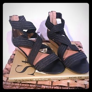 Lucky Brand Shoes - Lucky Brand : Black Wedge Sandals