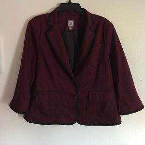 jcpenney Jackets & Blazers - JCP brand maroon blazer, xl