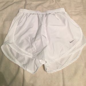 White nike dri-fit shorts