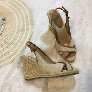 Banana Republic Shoes - Banana Republic Wedge Sandal Heels