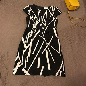 Studio I Petite Black & White Dress
