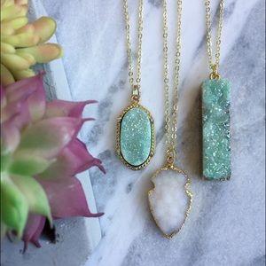 Simple Sanctuary Jewelry - 🌺 Druzy Quartz Necklaces