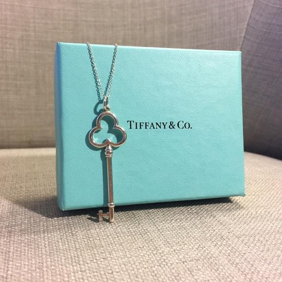 cedecb640 Tiffany & Co. Large Trefoil Key Pendant Necklace. M_59434b2d78b31c1910016a13