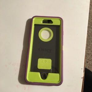 OtterBox Accessories - iPhone 6 otter box. Green/purple colored.