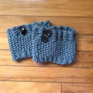 Accessories - Gray knit boot toppers