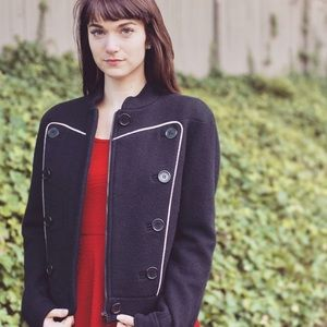 Marc By Marc Jacobs Jackets & Blazers - Marc Jacobs Black Wool Zip Up Military Jacket