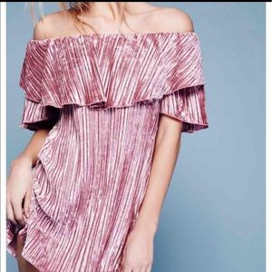 Free People Into The Night Velvet Dress -S- NWT