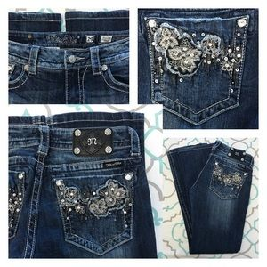 "Miss Me Denim - 💙👖Gorgeous Miss Me Jeans👖💙29 7/8 31"" Floral 🌺"