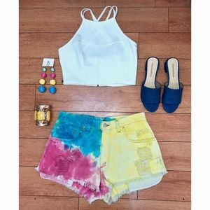 Levi's Pants - Tie Dye Cutoff Shorts