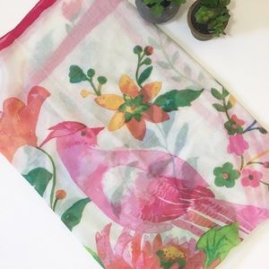 Accessories - Lightweight floral bird scarf/ sarong