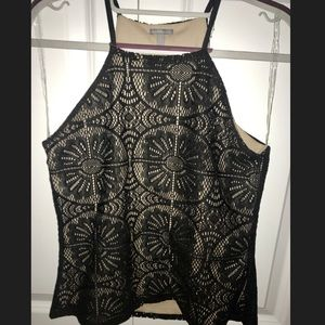Tops - Black lace tank top