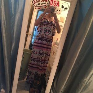 Sage Dresses & Skirts - tribal print maxi dress