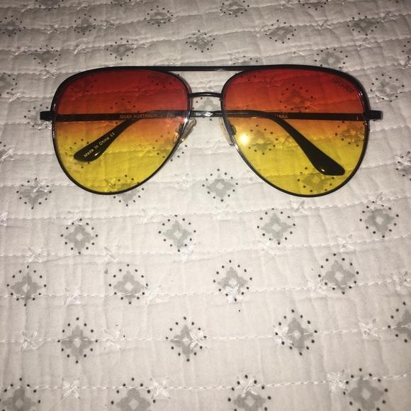 3e99783816 Quay X Desi Perkins Sahara Orange Fade Sunglasses.  M 594353ba41b4e0cec30192e9