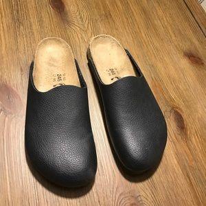 Birkenstock Shoes - Birkenstock  leather black mules clogs