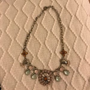 Anthropologie jeweled statement necklace