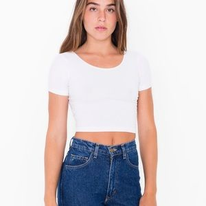Cotton Spandex Jersey Cropped Tee