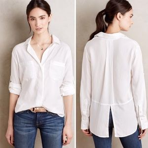 Cloth and Stone Shirttail Split Back Button Down