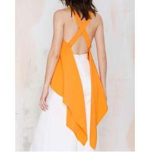 Asilio Tops - [asilio] orange channel drapey top