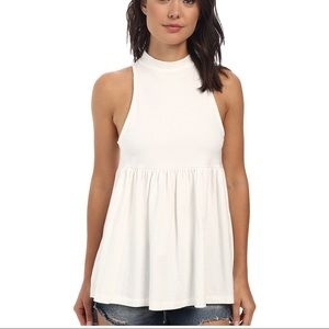 Free People high neck sleeveless top
