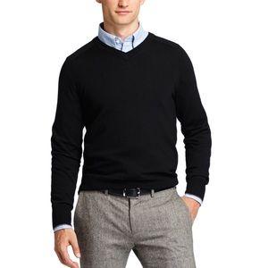 Jack Spade Other - Jack Spade Palmer Merino Wool Black V-Neck Sweater