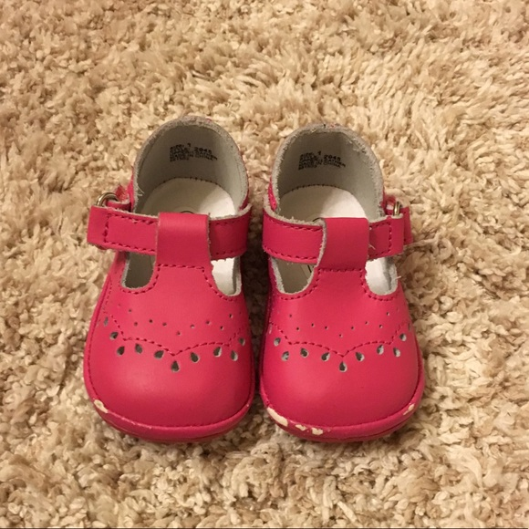 off Other ?Angel baby girls t strap leather shoe in