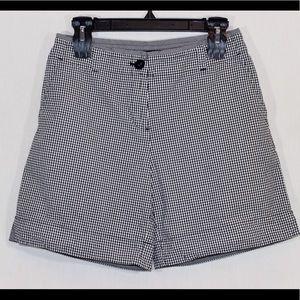 TALBOTS Black/White Plaid Stretch Casual Shorts