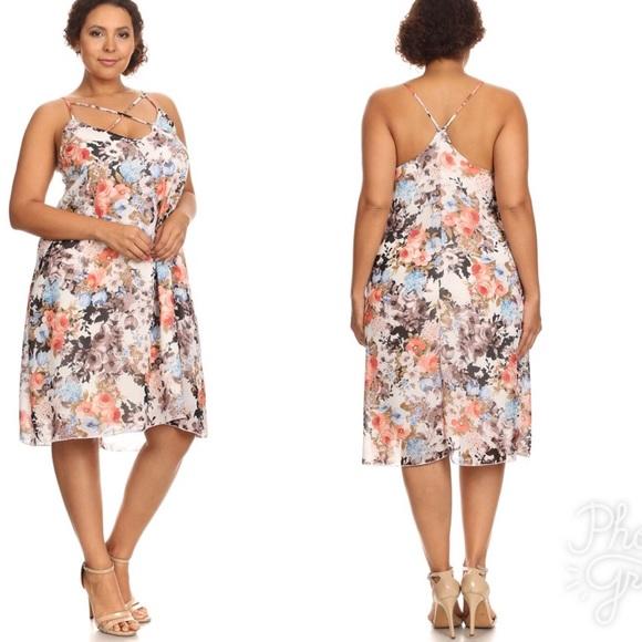 2b0dddebb8 Curvy Diva Floral Cross Dress