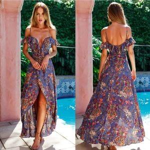 Dresses & Skirts - NWOT Summer Long Maxi Boho Off Shoulder Dress