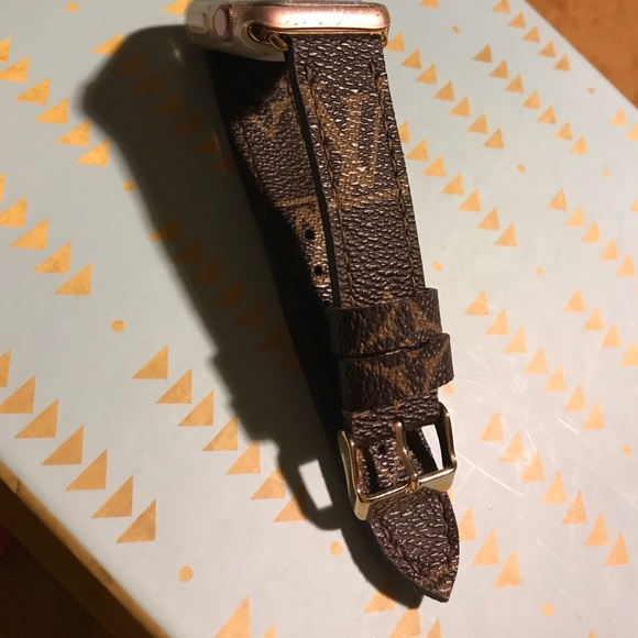 Louis Vuitton - Lv leather Apple Watch band size 38 mm