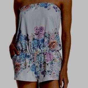 Shoshanna Other - Neiman Marcus Floral-Print Strapless Romper EUC Lg