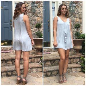 ❗️CLOSING SALE❗️Light Blue Front Drape Dress