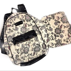 Icing Other - Icing Floral Canvas/Faux Leather Accent Backpack