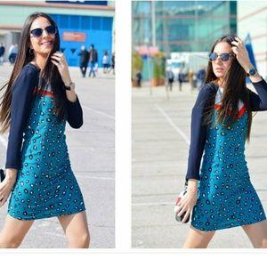 NWT Zara Animal Print Dress Size Medium