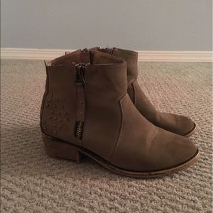 Cute tan booties