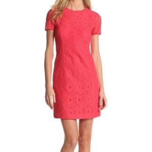 NWT Evan Picone Coral Lace Cap Sleeve Dress