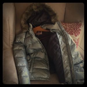 Juicy Couture silver hooded jacket!!