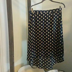 SALE! Pim+Larkin hi-low skirt navy and tan