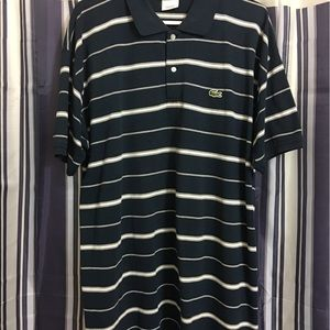 Lacoste Other - Lacoste Navy blue & white striped polo shirt