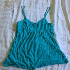 Blue baby doll tank