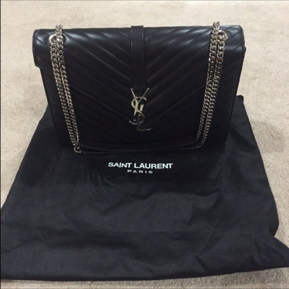 lowest price 2019 best sell buy sale YSL Black Envelope Bag (larger size)