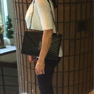 654d36d9ee81 Yves Saint Laurent Bags - YSL Black Envelope Bag (larger size)