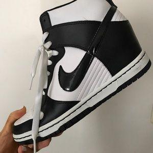 Black & White Nike Air Wedges