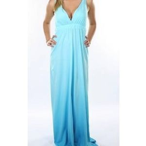 Gypsy 05 Dresses & Skirts - Gypsy 05 Organic Cotton Blue Ombre Dyed Maxi Dress