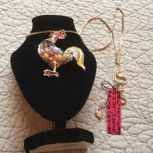 Betsey Johnson Jewelry - Betsey Johnson Rooster Necklace
