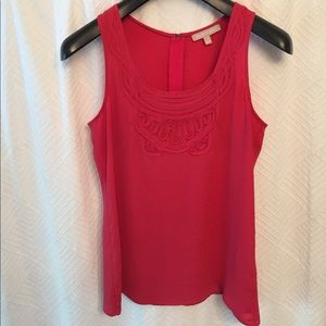 Pink top with beautiful detail!