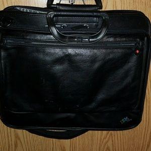 IBM THINKPAD Leather Executive Shoulder Strap Bag for sale