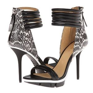 L.A.M.B. Shoes - L.A.M.B Frankie Leather Strappy Heels NWT 6