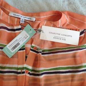 Collective Concepts Tops - NWT Stitch Fix Collective Concepts Funston Blouse